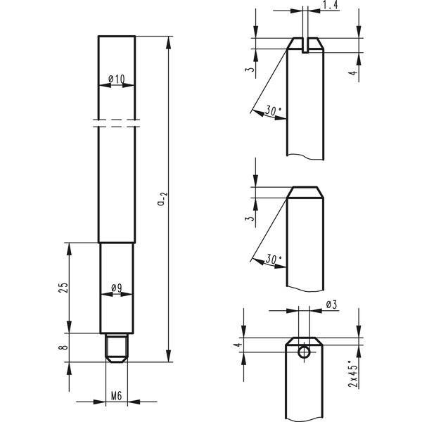 Tyčová závora BKS 9006, 1187 mm, spodní, pozink. ocel - BKS