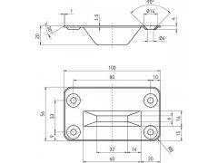 Podlahový protikus pro rozvorovou tyč 9009 0001, nerez ŽELEZÁŘSTVÍ - Zámky - Zadlabávací zámky - Zadlabávací zámky do profilových dveří - BKS