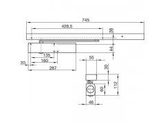 Dveřní zavírač GEZE TS 5000 R, EN 2-6, pro 1-křídlé dveře s kluznou lištou DVEŘE - Dveřní zavírače - Zavírače s kluznou lištou - Zavírače s kluznou lištou Geze - Zavírače Geze