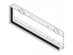 Prvek pro uchycení skla GEZE TS 3000, tloušťka skla max. 10 mm, stříbř. DVEŘE - Dveřní zavírače - Zavírače s kluznou lištou - Zavírače s kluznou lištou Geze - Píslušenství Geze