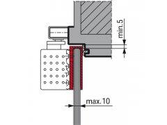 Svěrka na sklo DORMA TS 92, tloušťka skla max. -10 mm, stříbř Dveře - Dveřní zavírače - Zavírače s kluznou lištou - Zavírače s kluznou lištou Dorma - Příslušenství Dorma