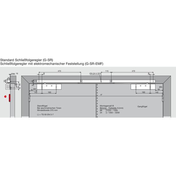 Kluzná lišta DORMA GSR - EMF1-V - Kluzné Lišty Dorma