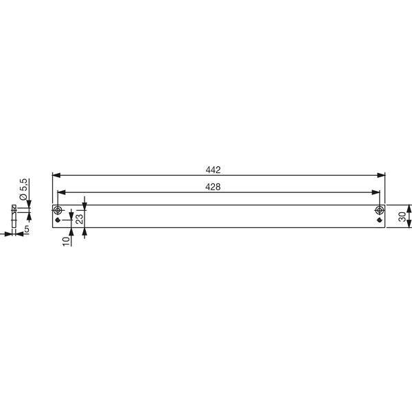 Montážní deska DORMA G-N 30 mm pro TS 91/92/93 - Příslušenství Dorma