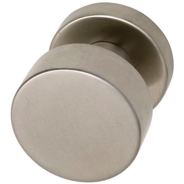 Dveřní koule ø 50 mm, pevně spojená s rozetou 50 x 11 mm, nerez matná