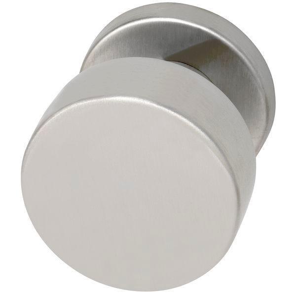 Dveřní koule ø 50 mm, pevně spojená s rozetou 50 x 7 mm, nerez matná - kování do 800,-