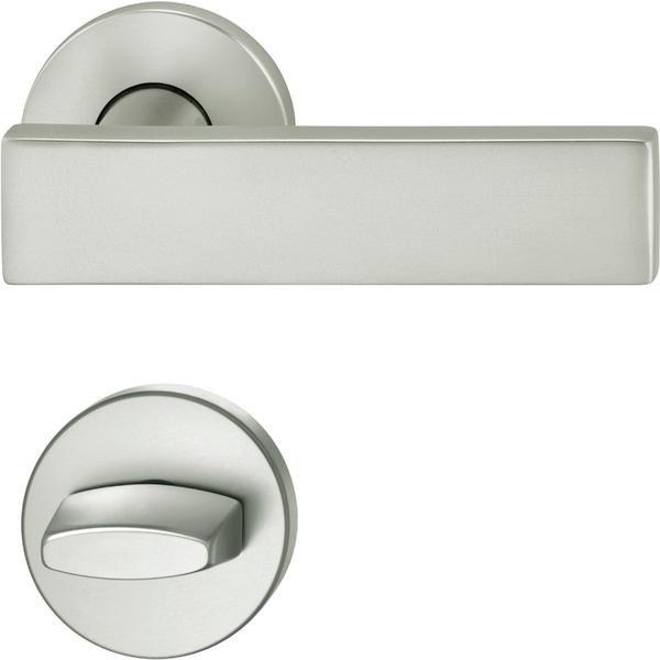 ASL dveřní kování FSB 12 1003 ,interiérové, klika-klika, stříbrný elox,rozeta WC