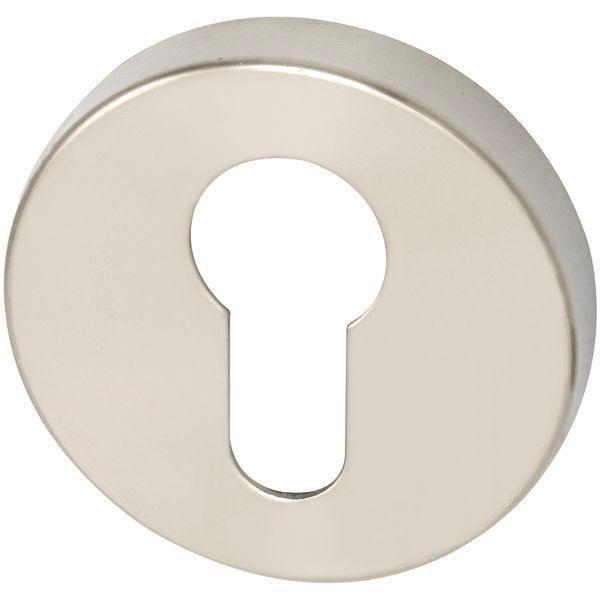 Klíčové rozety PZ, ø 50 mm, výška 7 mm, nerez mat - Dveřní rozety