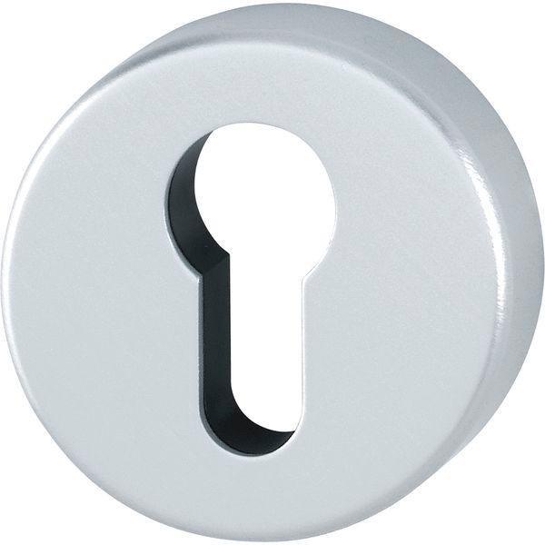Klíčové rozety PZ, ø 53 mm, výška 9 mm, F1 stříbrný elox - Dveřní rozety