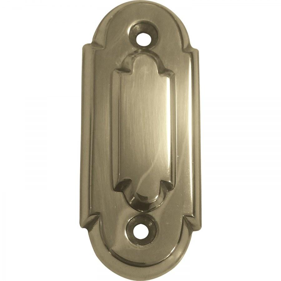Oválná klíčová rozeta OB s překrytím, 32 x 74 mm, mosaz leštěná