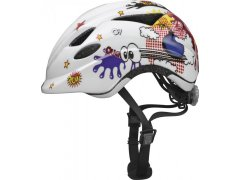 Anuky white comic M (52-57 cm) MOTO A CYKLO - Cyklistické helmy - Dětské cyklo přilby