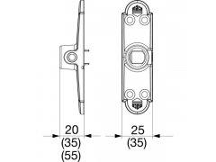 Podpěrná konzole Rustico OKNA - Kování na okenice