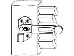 Okenicový uzávěr Rustico 1-křídlý s aretací, levý, černý OKNA - Kování na okenice