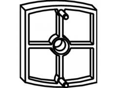 Podložka MACO Rustico pro doraz, 10 mm OKNA - Kování na okenice