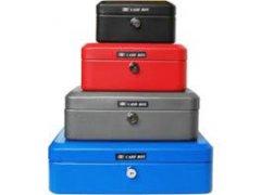 Příruční pokladna Cash box YALE 80x152x118mm Trezory, sejfy, pokladničky - Příruční pokladničky