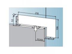 Rohový úchyt světlíku PT 40 ŽELEZÁŘSTVÍ - Kování na sklo - Kování na celoskleněné zařízení zařízení