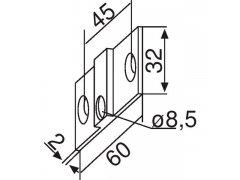 Upevňovací spojka pro PT 30 ŽELEZÁŘSTVÍ - Kování na sklo - Kování na celoskleněné zařízení zařízení