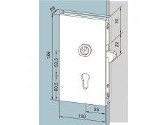 Zámek posuvných dveří ŽELEZÁŘSTVÍ - Kování na sklo - Kování na celoskleněné zařízení zařízení