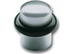 Dveřní doraz ø 25 mm, výška 30 mm, montáž do podlahy, dorazový gumový kroužek,nerez ŽELEZÁŘSTVÍ - Dveřní zarážky