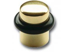 Dveřní doraz ø 25 mm, výška 30 mm, montáž do podlahy, dorazový gumový kroužek ŽELEZÁŘSTVÍ - Dveřní zarážky