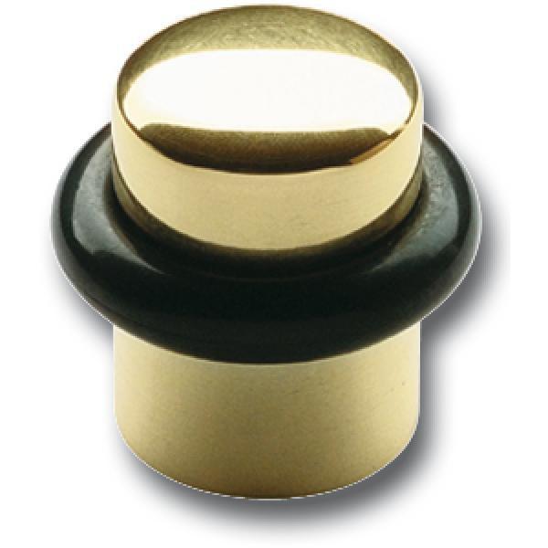 Dveřní doraz ø 25 mm, výška 30 mm, montáž do podlahy, dorazový gumový kroužek
