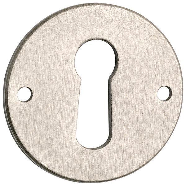 Štítek na klíč ø 30 mm, mosaz poniklovaná matná