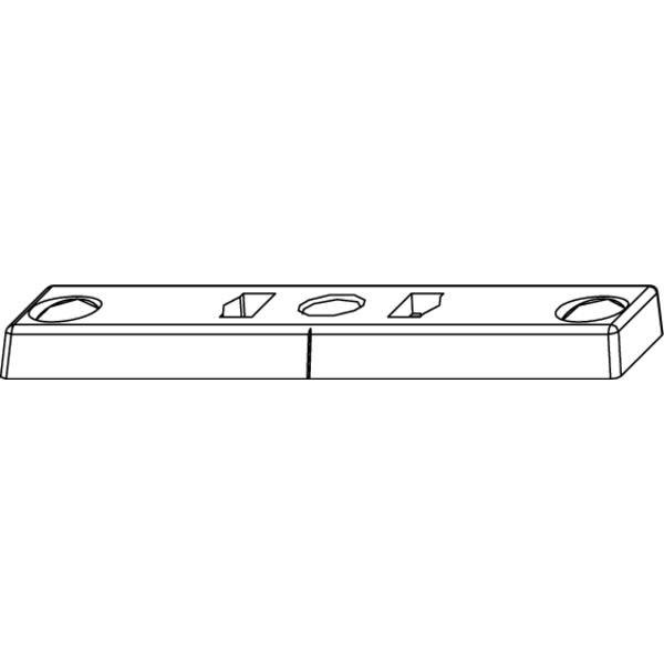 Protiplech pro omez. otevř., falc 12 mm, zink. tlak. odl., stříbřitě (54697) - Okenní aretace, otvírače