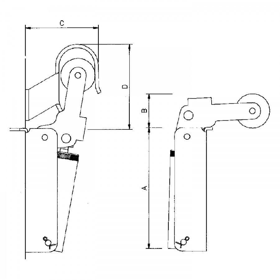 Dveřní zavírač Justor, vel.3, šířka dveří - 1300 mm nerez - Dveřní zavírače doplňky