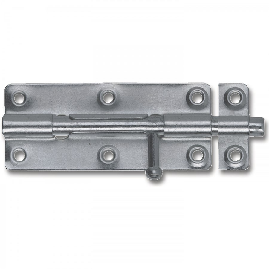 Grendel zástrčka standardní, 80 mm, pozinkovaná ocel - Do 100,- kč
