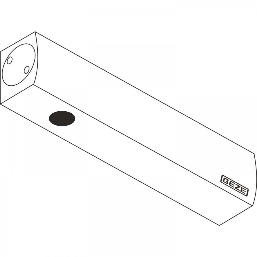 Dveřní zavírač GEZE TS 2000 V, EN 2-5 bez ramínka, stříbrný - Dveřní zavírače bez ramínka