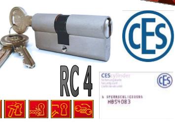 Vložka Ces PSM 4. bezpečnostní třída - Cyl. vložky do 800,-