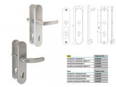 Bezpečnostní kování FAB klika/klika 72mm OVAL F1 DVEŘE - Dveřní kování, dveřní příslušenství - Bezpečnostní kování - Bezpečnostní kování Fab