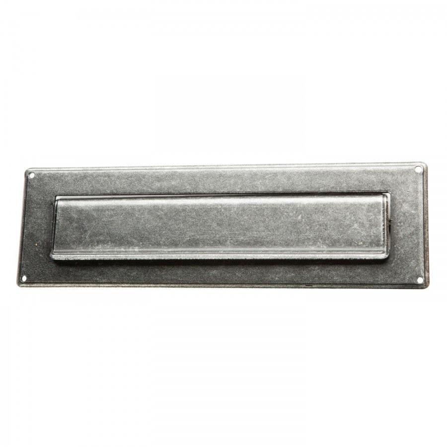 Vhoz na dopisy 285 x 85 mm, kované železo pozinkované černěné - poštovní vhozy