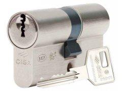 Vložka Cisa C3000 3klíče 3BT-Patentově chráněný klíč Bezpečnostní cylindrická vložka- 3. bezpečnostní třída s překrytem vložky 4. BT DVEŘE - Cylindrické vložky - Cylindrické vložky oboustranné - Cyl. vložky do 1000,-