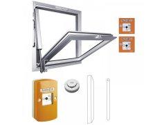 RWA domácí schodišťová sada 100 NT, zdvih 300, hliník stříbrný elox. OKNA - Okenní zámky s alarmem