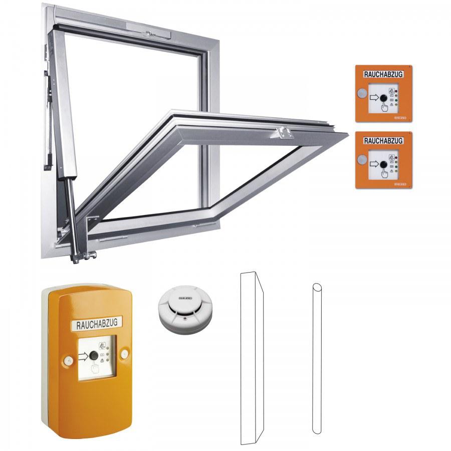 RWA domácí schodišťová sada 100 NT, zdvih 300, hliník stříbrný elox. - Okenní zámky s alarmem