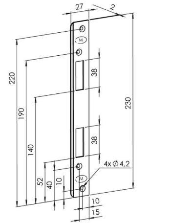 Protiplech Fab Bera LRSM - Protiplechy, dělené čtyřhrany