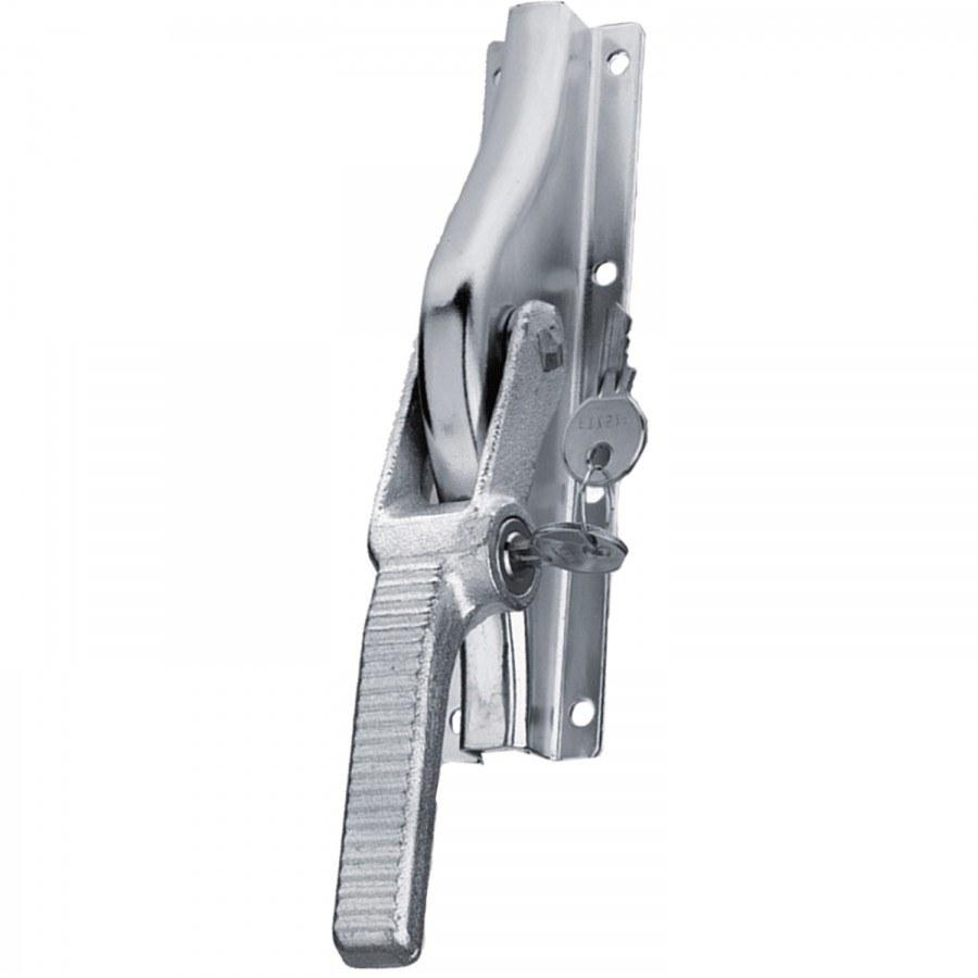 Vratová rozvor.zástrč k našroub.uzamykat.,13x13 mm,zdvih 23 mm,ocel, stříbr.šedá