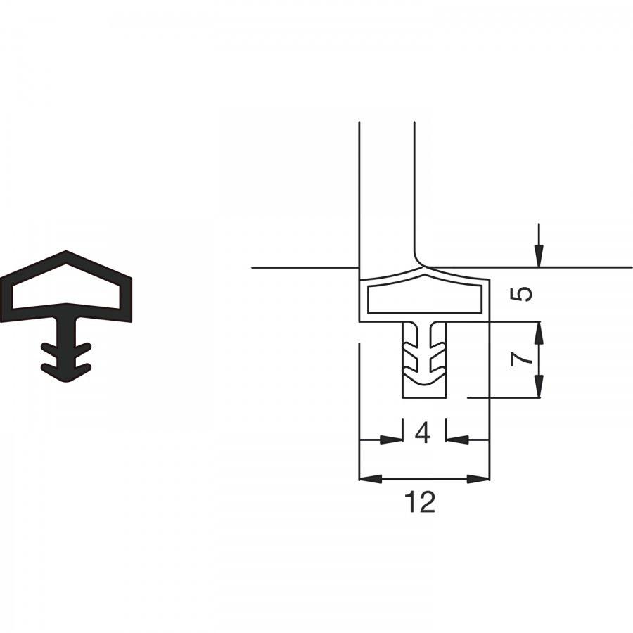 Těsnění do vnitřních dveří M 680, role16,5 m, plast béžový - Dveřní těsnění, prahy, těs. kartáče