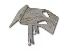 Spodní náběhový protikus 130, ocel pozinkovan DVEŘE - Zástrčky, pákové uzávěry, zástrče - Zahradní zástrče, uzávěry