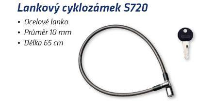 Lankový cyklozámek S720 - Do 100,- kč