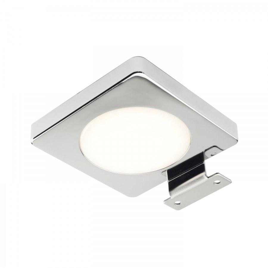 Světlo Byblos 4W, plošné LED, 12V, teplá bílá, chrom, vč. svorek