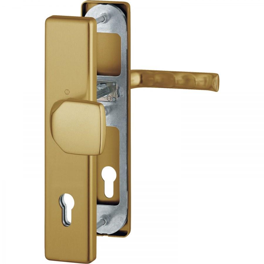 Bezpečnostní sada LONDON, klika-koule, PZ 92 mm, 67-72, hliník F4 bronz