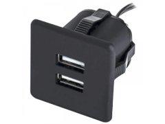 USB nabíječka k zabudování 2xUSB TYP-A 5V max. 2x1,5A, černá Elektro - Světelný desing a technika - Zásuvkové prvky