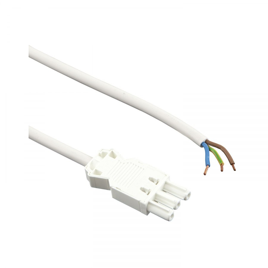 Připojovací kabel s přístr. konektorem GST18, D 1000 mm, bílá - Rozdělovače a prodlužovací vedení