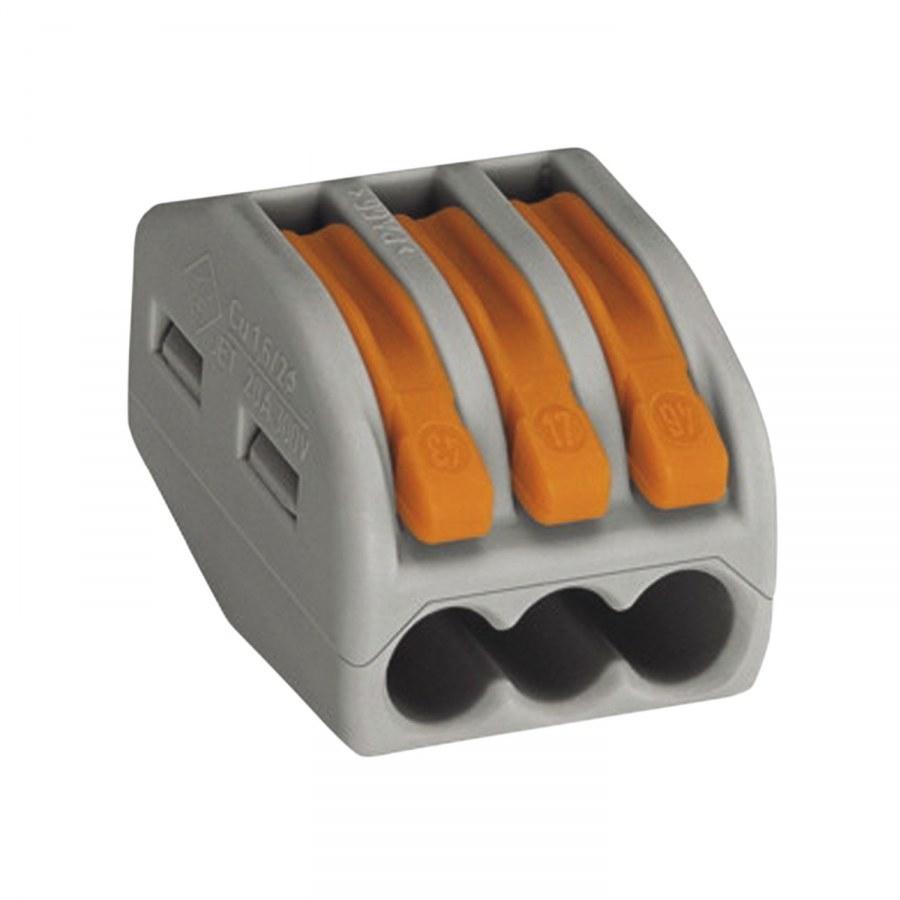 Svorkovnice WAGO 222 3x4Qmm šedá s páčkou - Instalační příslušenství, Příslušenství ke svítidlům
