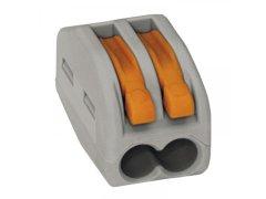 Svorkovnice WAGO 222 2x4Qmm šedá s páčkou Elektro - Světelný desing a technika - Instalační příslušenství, Příslušenství ke svítidlům