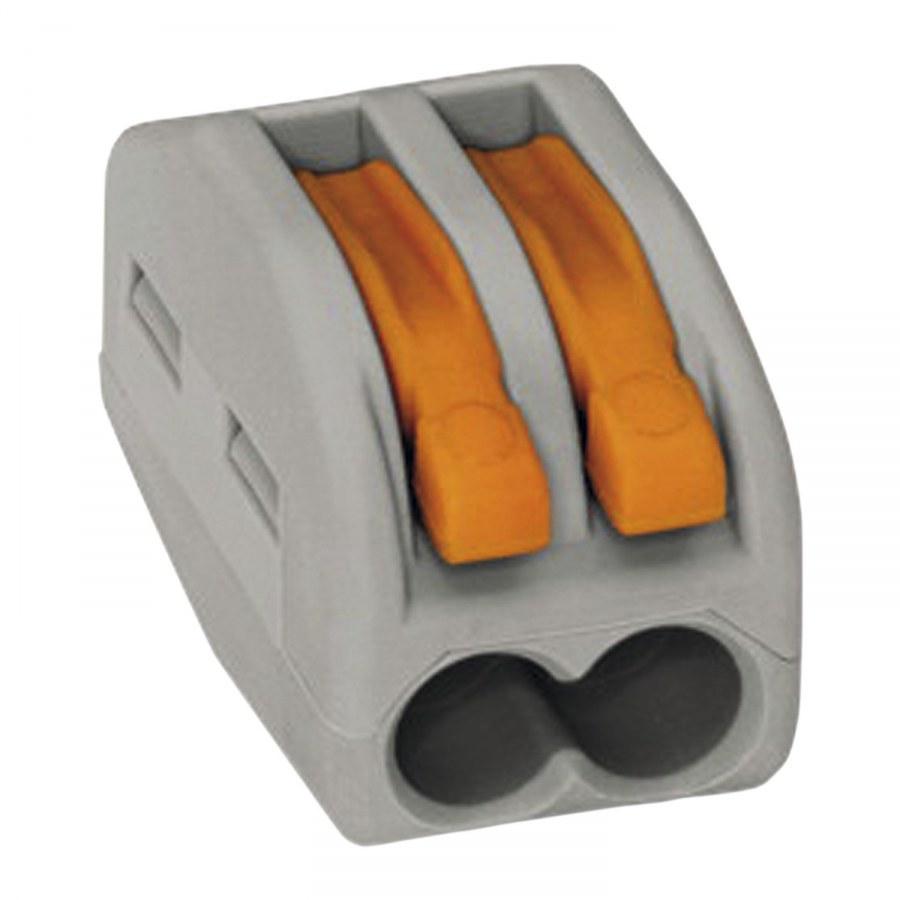 Svorkovnice WAGO 222 2x4Qmm šedá s páčkou - Instalační příslušenství, Příslušenství ke svítidlům