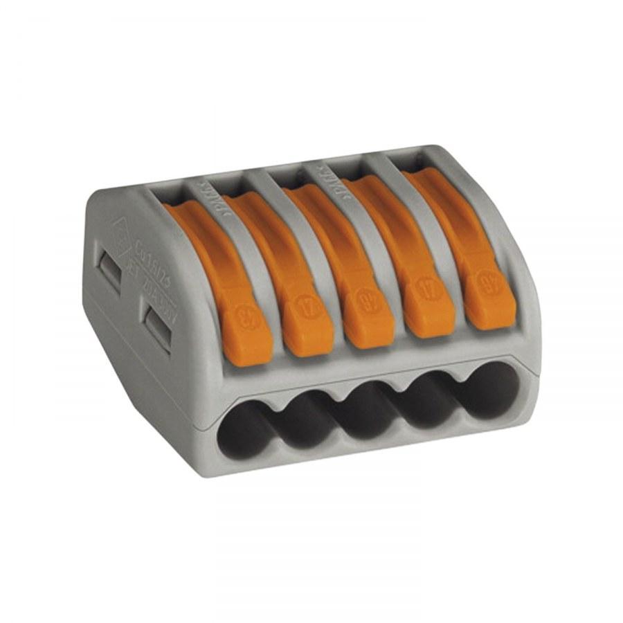 Svorkovnice WAGO 222 5x4Qmm šedá s páčkou