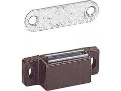 HETTICH nábytkový magnet M72 + protikus, přídržná síla 5 kg, plast hnědý ŽELEZÁŘSTVÍ - Nábytkové kování,nábytkové panty - Nábytkové panty - Příslušenství nábytkové panty