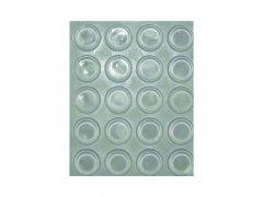 Tlumící dveřní doraz TDK1 - samolepící, kulatý, ø13, plast transparentní ŽELEZÁŘSTVÍ - Nábytkové kování,nábytkové panty - Nábytkové panty - Tlumící prvky a těsnící profily